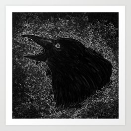 Cawing Crow Art Print