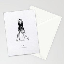 Little Black Halter Dress Stationery Cards