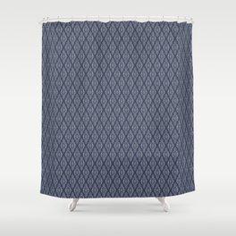 Modern damask abstract geometric pattern Shower Curtain