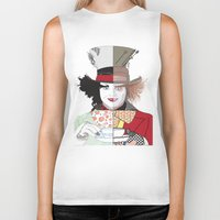 mad hatter Biker Tanks featuring Mad Hatter by Maryamodi
