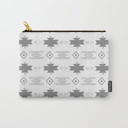 Southwestern Pattern Gray Cream Carry-All Pouch