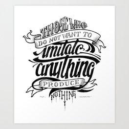 Quote - Dali 1 - Typedesign Art Print