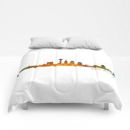 San Antonio City Skyline Hq v1 Comforters