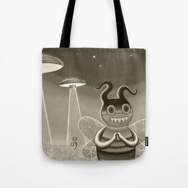 bee movie noir Tote Bag