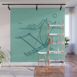 Outrigger Canoe Wall Mural
