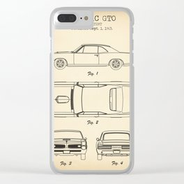 Pontiac GTO vintage Clear iPhone Case