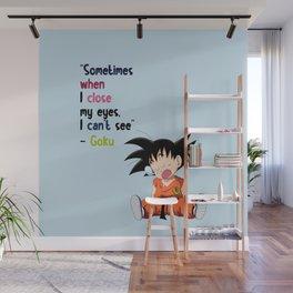 Goku funny Wall Mural