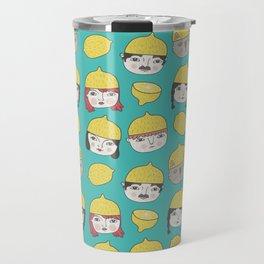 Pattern Project #10 /Lemon Hats Travel Mug