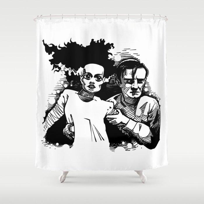Bride Of Frankenstein Shower Curtain By Roboconnor