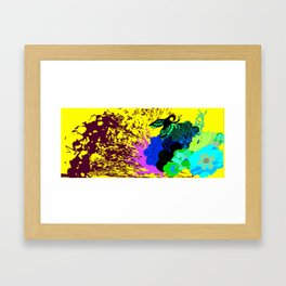 simurgh floral  Framed Art Print
