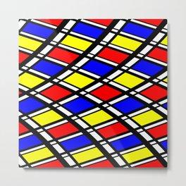 Curved Modern Art Pattern Metal Print