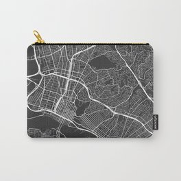 Oakland Map, USA - Gray Carry-All Pouch