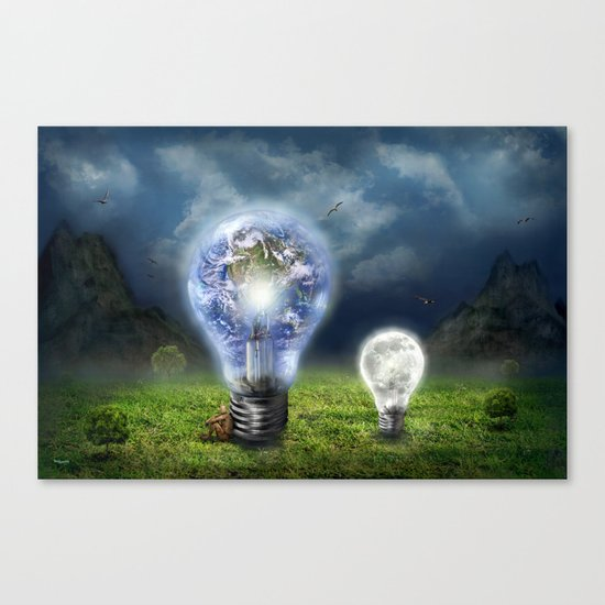 The earth and the little brother Canvas Print