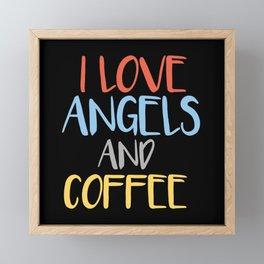 Angel And Coffee Saying Framed Mini Art Print