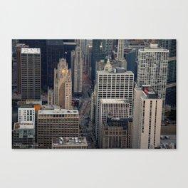 Michigan Avenue Bridge: A Bird's Eye View (Chicago Architecture Collection) Canvas Print