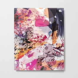 7: a vibrant abstract in jewel tones Metal Print
