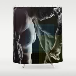 Benday Moiré Maybe Gay Shower Curtain