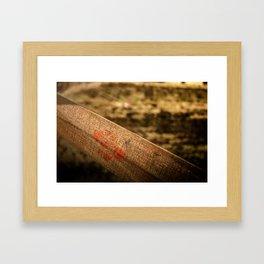 In particular wood Framed Art Print