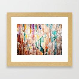 Pastel Tile Mosiac 1 Framed Art Print