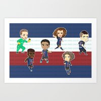 PSG (Paris Boys) Art Print