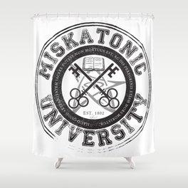 Miskatonic University Emblem (light version) Shower Curtain