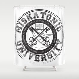 Miskatonic University Emblem (light version) Shower Curtain