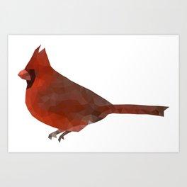 Geometric Cardinal Art Print