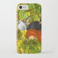 red hood iPhone & iPod Cases featuring Red Riding Hood by Diogo Verissimo