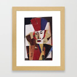 Grace Jones #PrideMonth Collage Portrait Framed Art Print