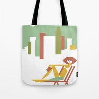 central park Tote Bags featuring Central Park by Szoki