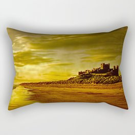 Golden Bamburgh Morning Rectangular Pillow