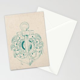Anchor mandala Stationery Cards