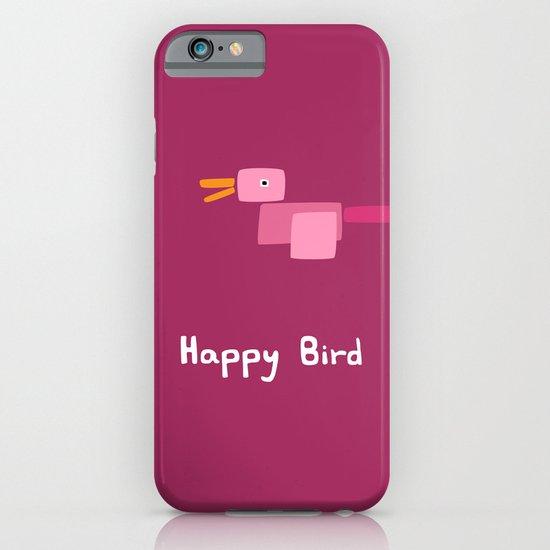 Happy Bird-Pink iPhone & iPod Case