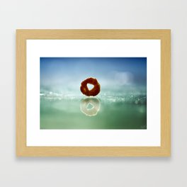 The Runaway Cheerio Framed Art Print