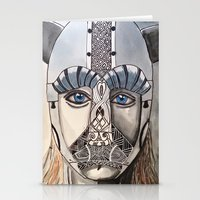 viking Stationery Cards featuring Viking by Hannah Brownfield Camacho