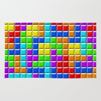 tetris Area & Throw Rugs featuring Tetris by Rebekhaart