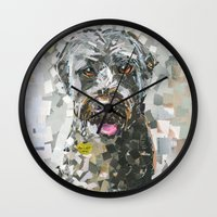 ginger Wall Clocks featuring Ginger by Maritza Hernandez
