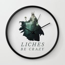 Lich (Typography) Wall Clock