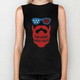 Make Beards Great Again Beard Art Design for Him Men Gift 4 Biker Tank