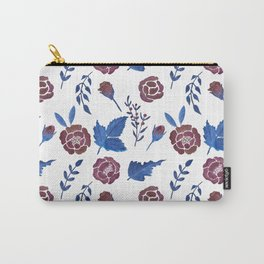 Watercolor floral red roses print Carry-All Pouch