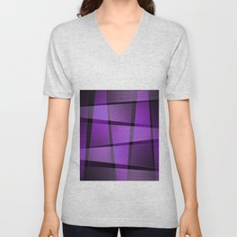 Creative purple pattern Unisex V-Neck