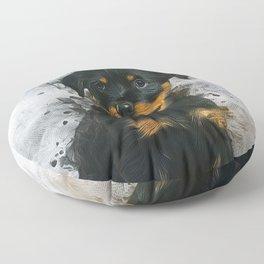Rottweiler Pup Floor Pillow