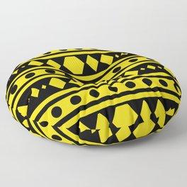 Tribal Yellow Pattern Floor Pillow
