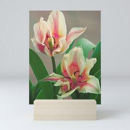Vintage tulips 7 Mini Art Print