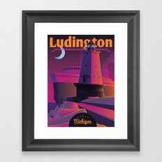 Ludington & the S.S. Badger Framed Art Print