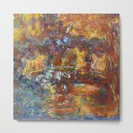 "Claude Monet ""The Japanese Footbridge"" Metal Print"