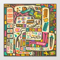jazzberry Canvas Prints featuring Tastes Great But Totally Inedible: Must be JAZZ (the art of madness and madness of art) by Jazzberry Blue
