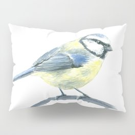 Blue tit, watercolor painting Pillow Sham