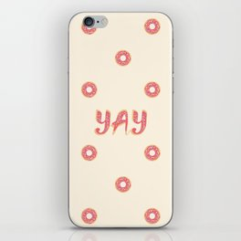 YAY Doughnuts iPhone Skin