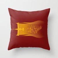 bebop Throw Pillows featuring Space Horse (Spikes Horse)Bebop)Cowboy)Swordfish) by Geekleetist